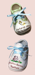 Picture of a Hand Painted Baby Shoe